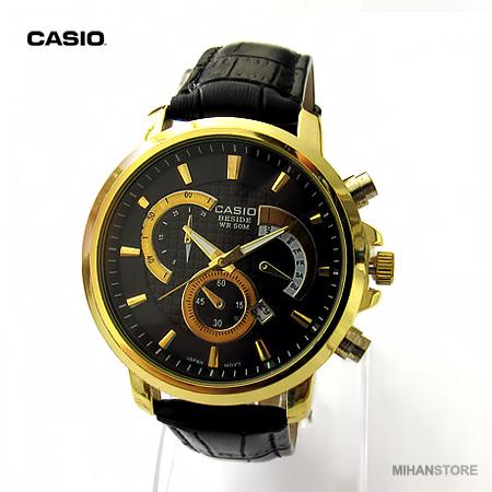 ساعت کاسیو بند چرم - مدل Golden 506