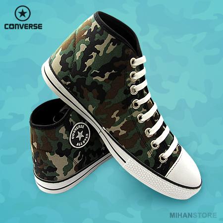 کفش مردانه آل استار طرح ارتشی