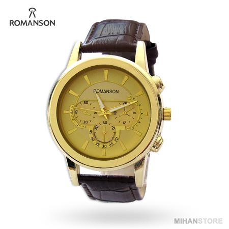 ساعت مچی بند چرم Romanson