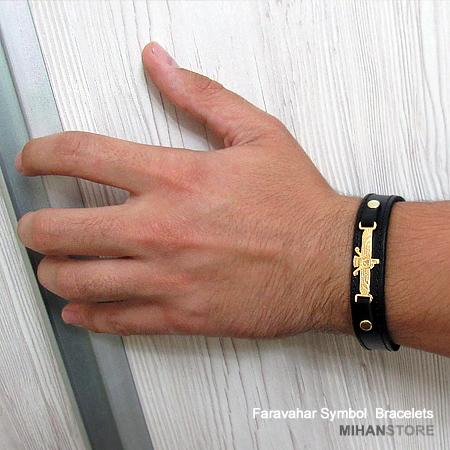 دستبند چرم طرح فروهر