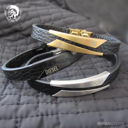دستبند چرم  طرح دیزل