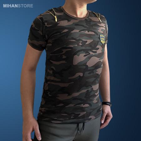 تی شرت مردانه ارتشی طرح Zipper