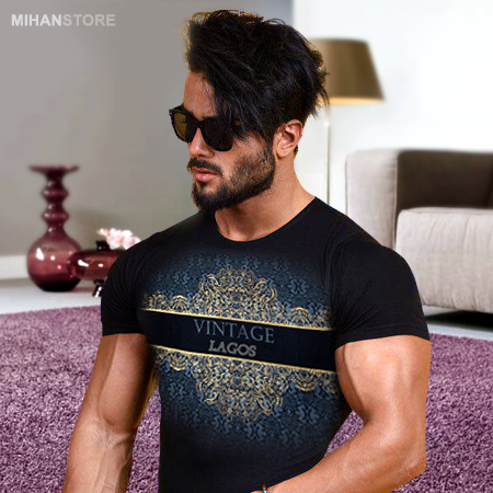 تی شرت مردانه طرح Vintage